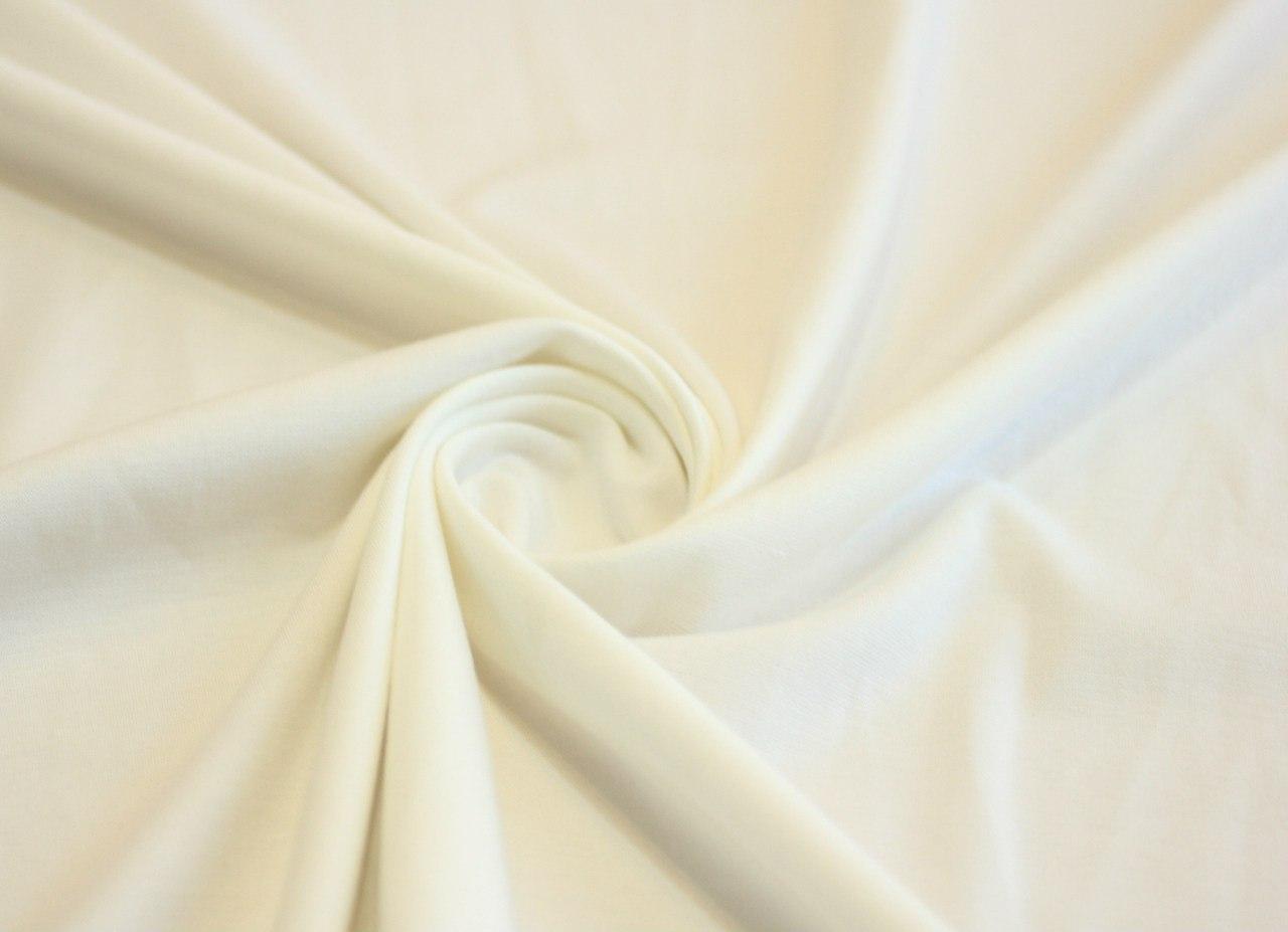 Ткань джерси цвет молочный