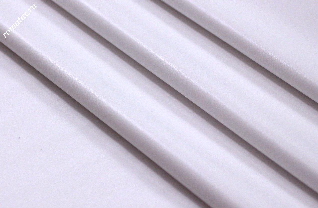 Ткань кожзам стрейч цвет белый