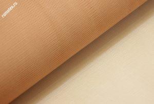 Ткань сетка жесткая цвет персиковый