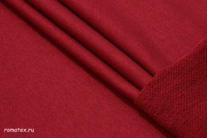 Ткань футер 3-х нитка петля качество компак пенье цвет бордовый