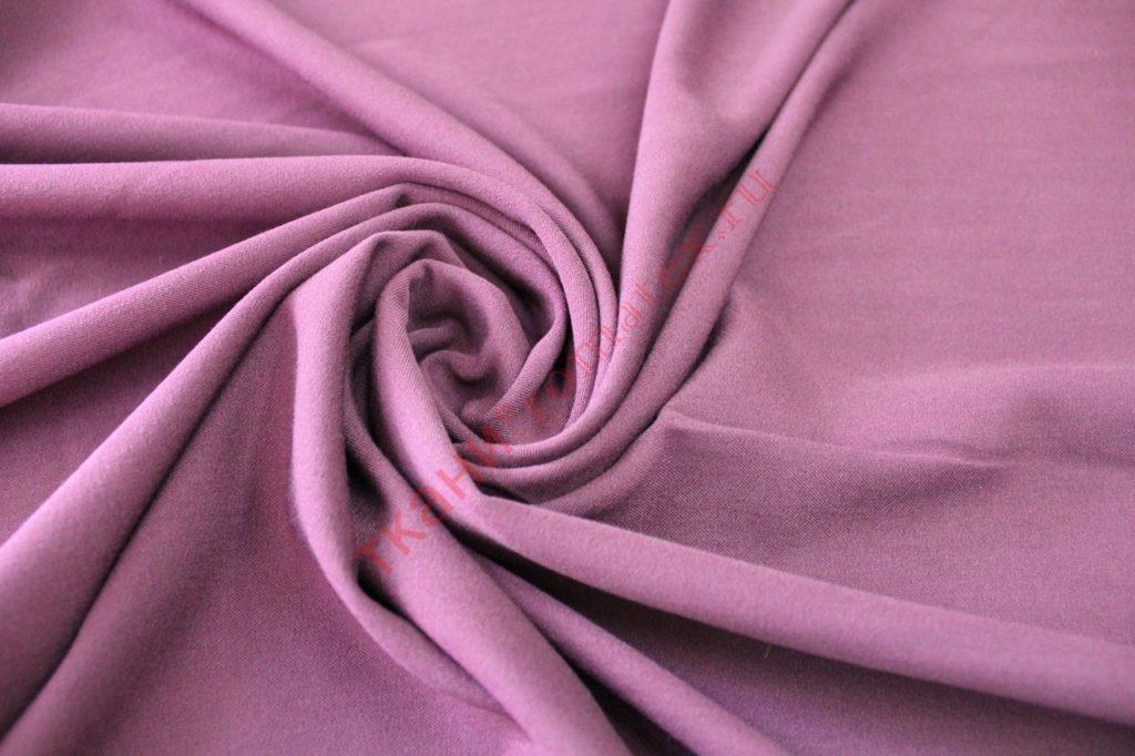Ткань замша на трикотаже тёмная пыльная роза