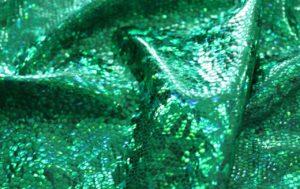 Ткань голограмма стрейч цвет изумрудный