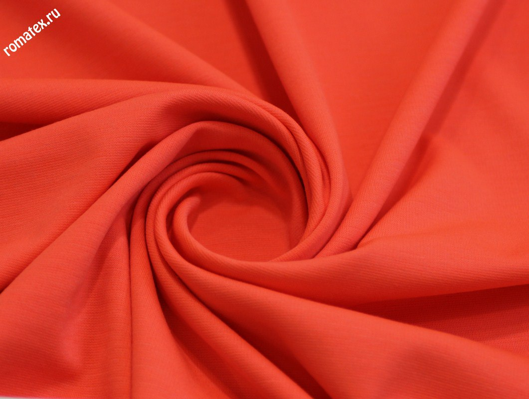 Ткань джерси цвет оранжевый неон