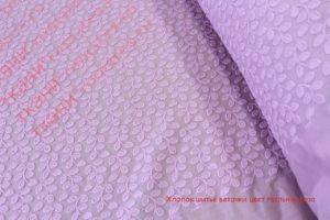 Ткань хлопок шитьё веточки цвет пыльная роза