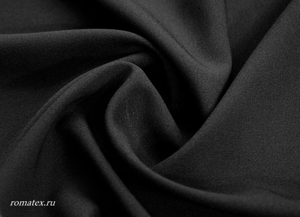 Ткань креп шифон цвет чёрный