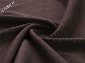 Ткань кашкорсе цвет темно-коричневый