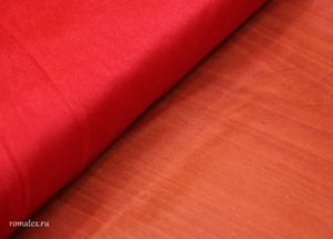 Ткань сетка жесткая цвет красный