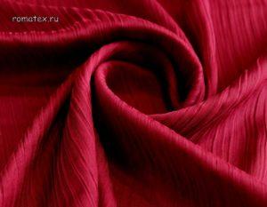 Ткань шелк плиссе красный