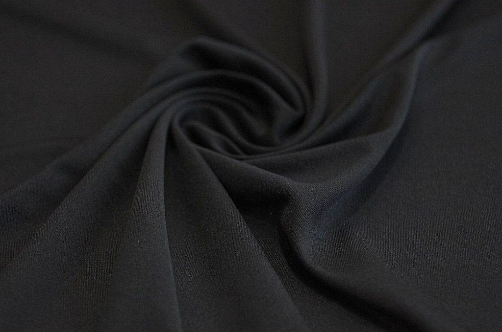 Ткань подкладочная трикотажная чёрная