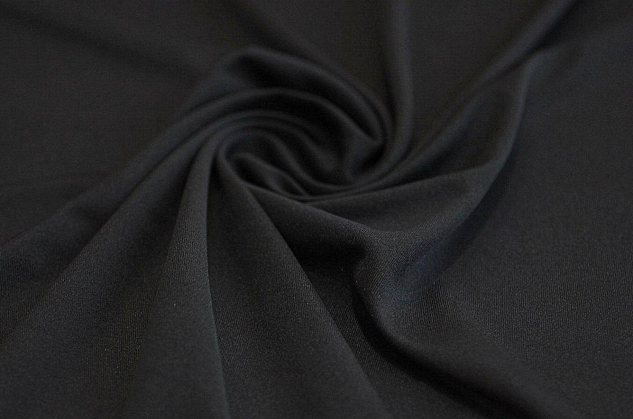 Ткань подкладка трикотажная чёрная