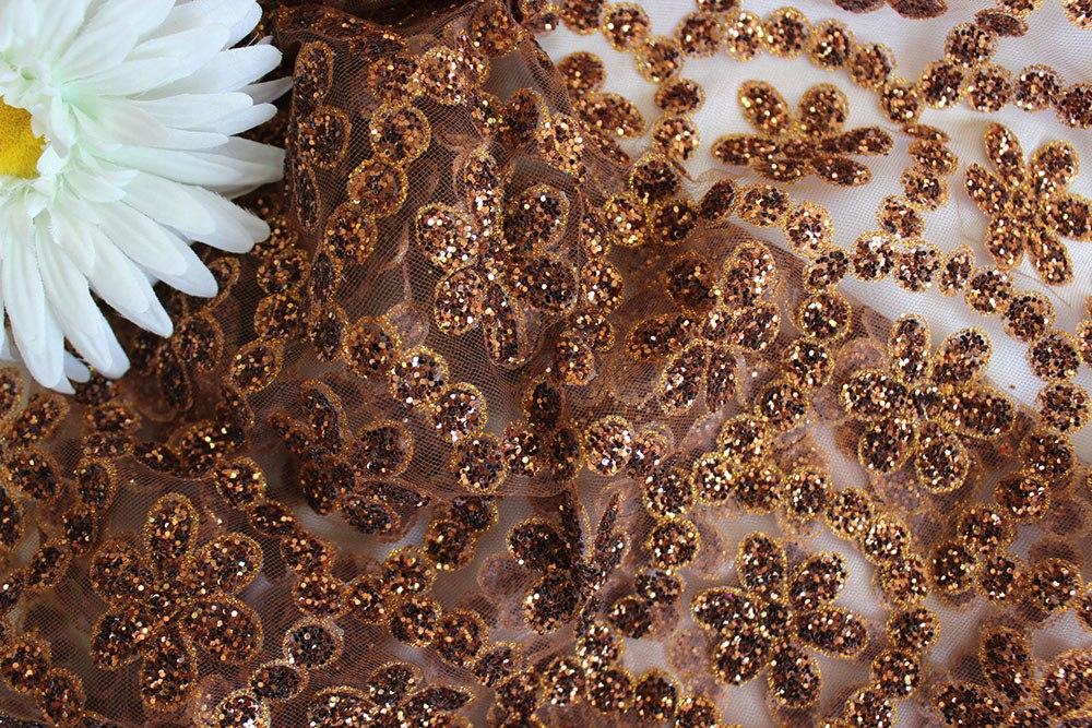 Ткань сетка валентино цвет медный