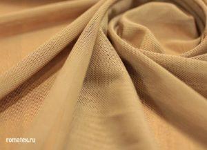 Ткань сетка трикотажная цвет бежевый