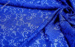 Ткань гипюр dl цвет василёк