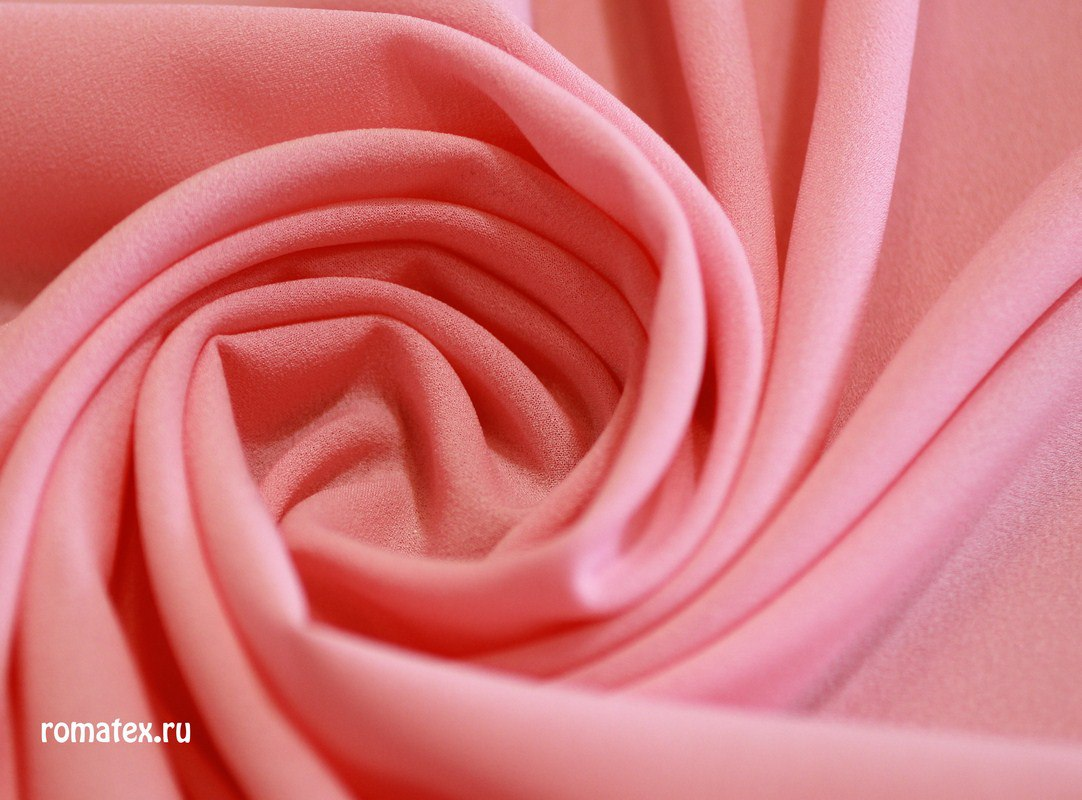 Ткань креп-шифон цвет розовый