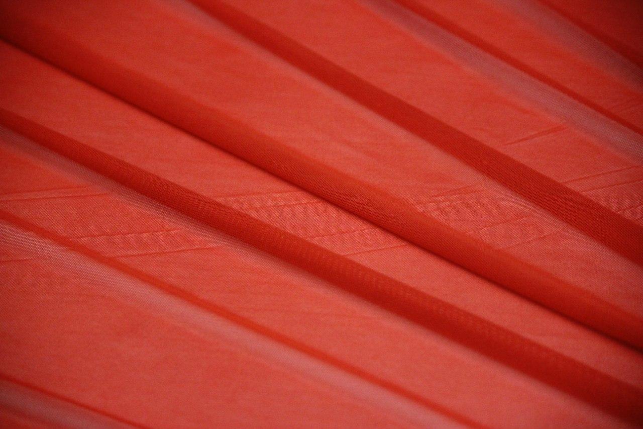 Ткань сетка трикотажная цвет красный