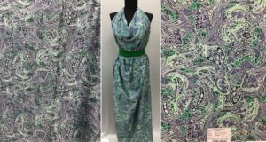 Ткань армани цветочный дизайн