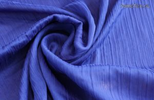 Ткань шелк плиссе васильковый