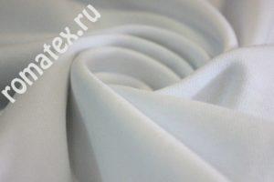 Ткань кашкорсе цвет белый ширина 180
