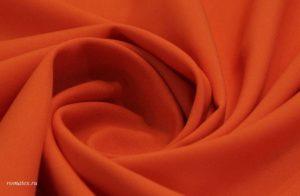Ткань габардин цвет оранжевый
