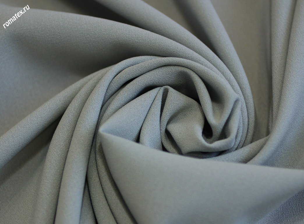 Ткань креп-шифон цвет серый