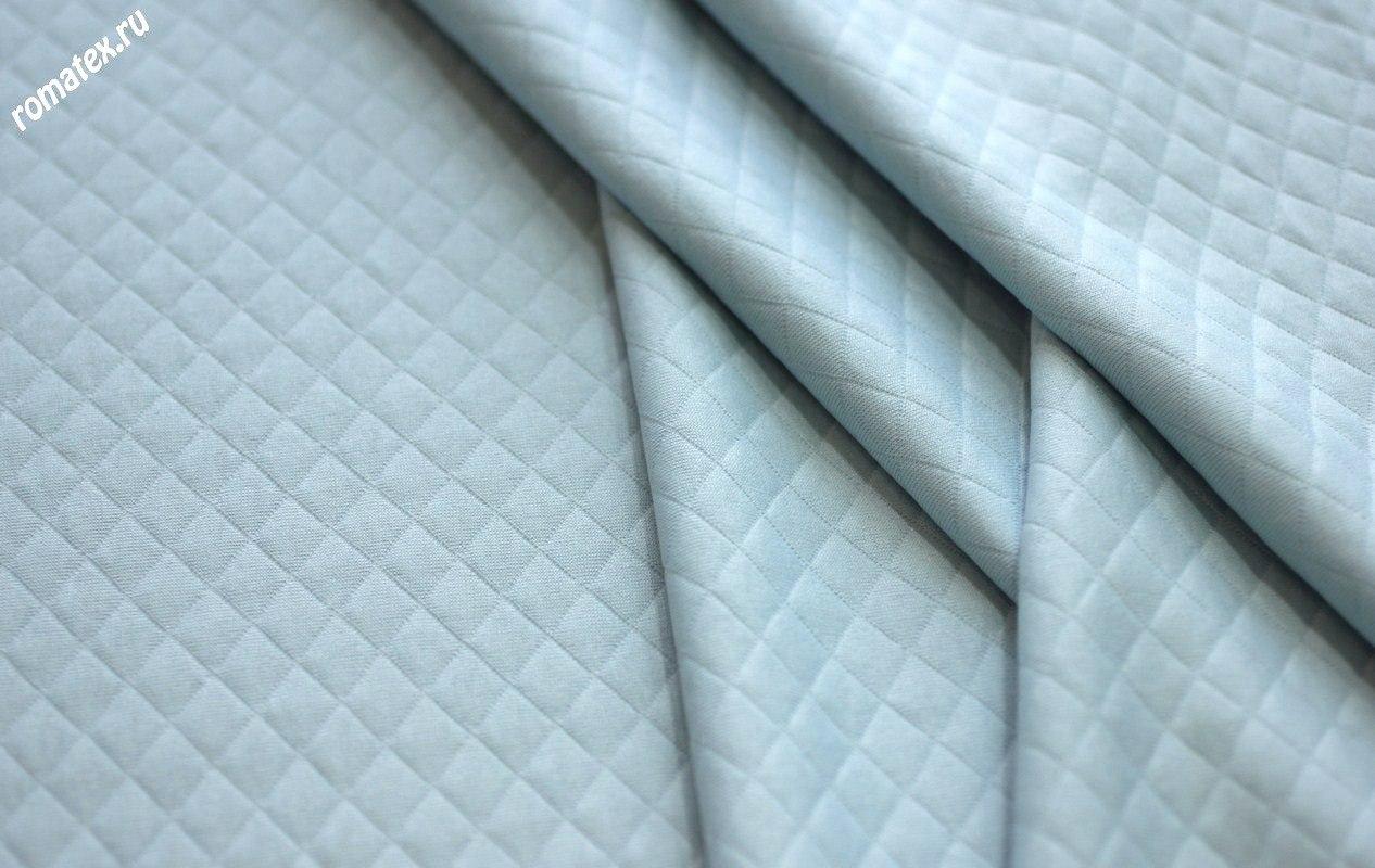 Ткань стежка ромб цвет светло-голубой