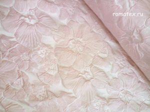 Портьерная ткань жаккард тафта розовая