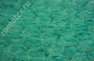 Ткань сетка роза крупная цвет мятный