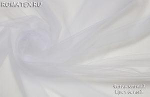 Ткань фатин мягкий цвет белый