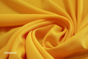 Ткань креп-шифон цвет жёлтый
