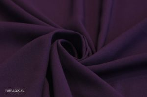 Ткань креп-шифон цвет баклажан