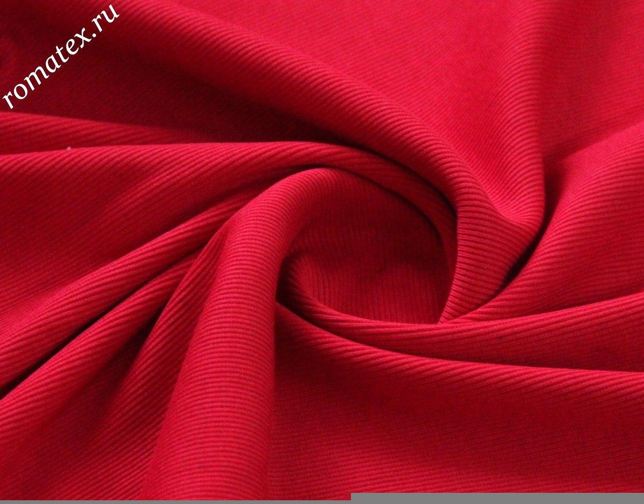 Ткань кашкорсе цвет красный