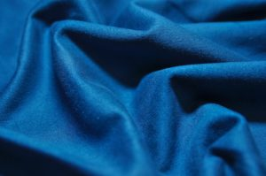 Ткань для одежды искусственная замша на трикотаже индиго