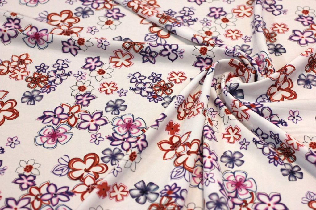 Ткань супер софт цветок цвет белый