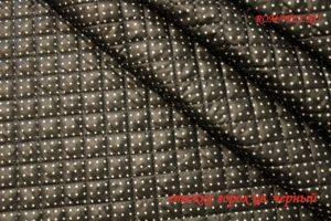 Ткань двухсторонняя стежка горох цвет чёрный