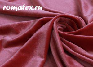 Антивандальная ткань для дивана бархат стрейч цвет коралловый