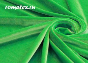 Ткань бархат стрейч цвет салатовый