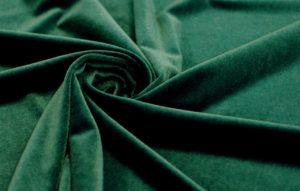 Для обивки дивана ткань бархат стрейч цвет тёмный изумруд