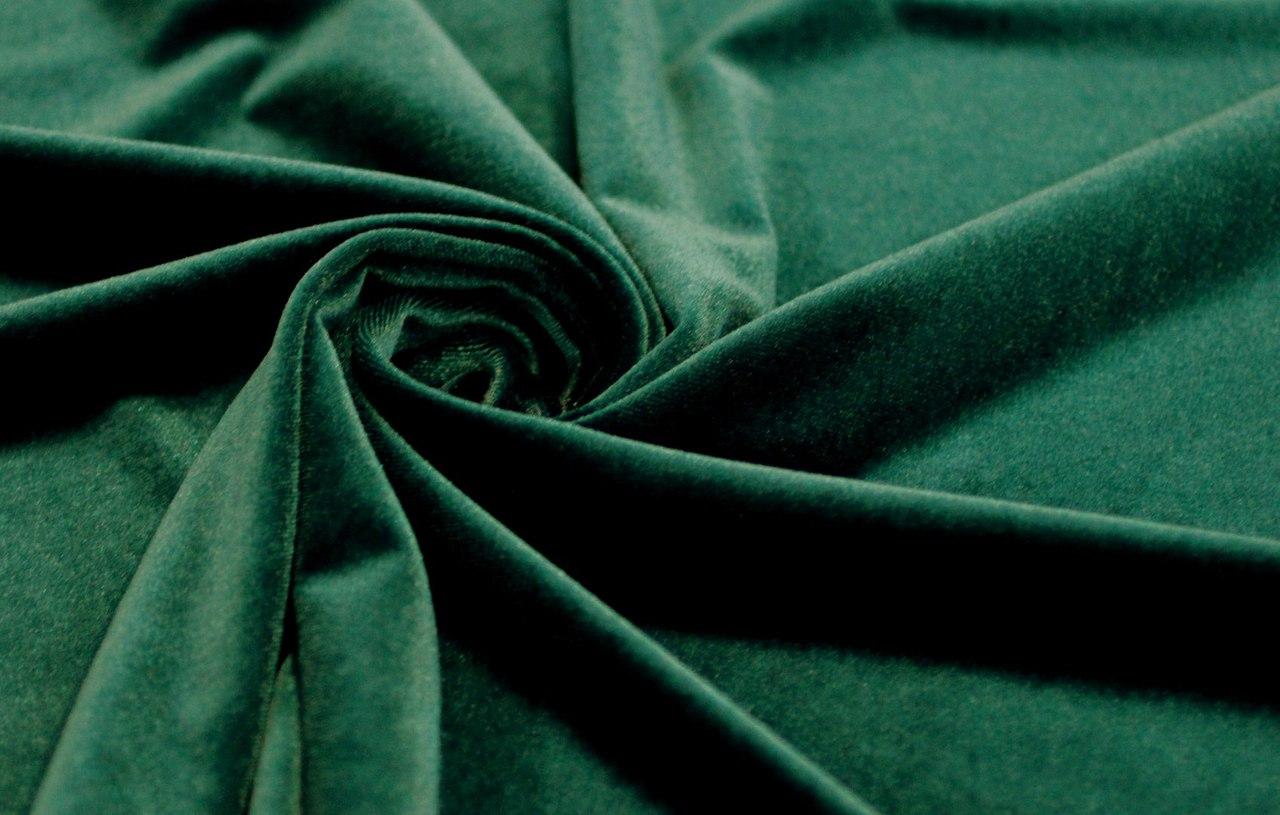 Ткань бархат стрейч цвет тёмный изумруд