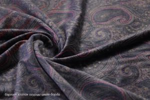 Обивочная ткань для дивана бархат стрейч «огурцы»
