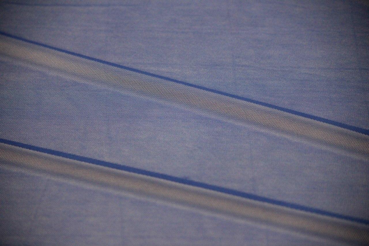 Ткань сетка трикотажная цвет васильковый