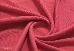 Ткань кашкорсе цвет коралловый