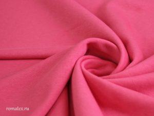 Ткань футер трехнитка петля цвет коралловый качество пенье