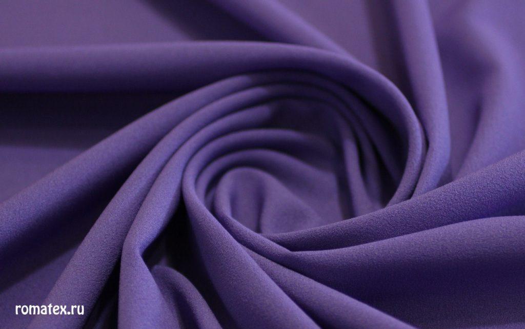 Ткань креп шифон цвет фиолетовый