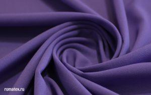 Ткань плательный креп шифон цвет фиолетовый