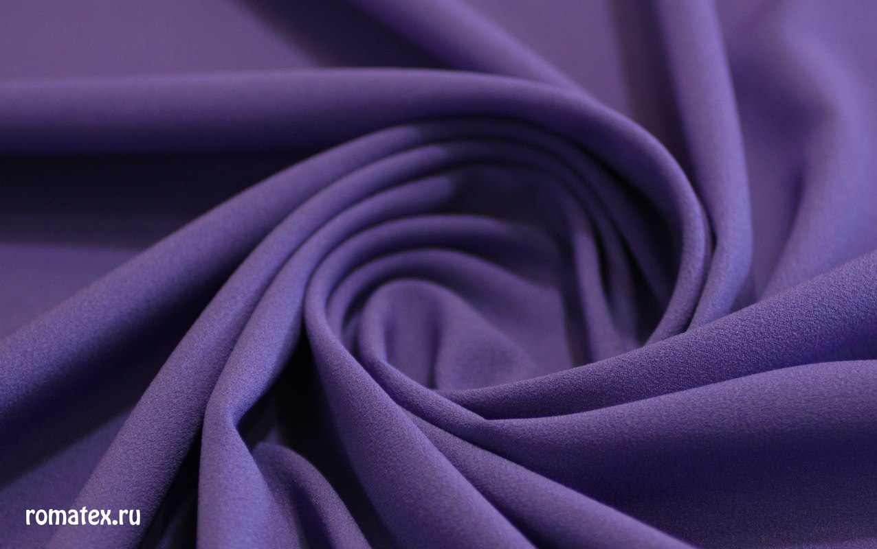 Ткань креп-шифон цвет фиолетовый