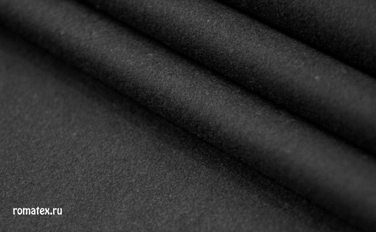 Ткань пальтовое сукно ворсовое цвет черный