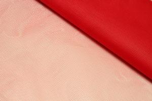 Ткань сетка жесткая цвет коралловый