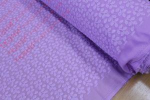 Ткань хлопок шитьё веточки цвет сиреневый