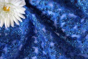 Ткань сетка валентино цвет васильковый