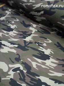 Ткань курточная стежка камуфляж милитари цвет хаки